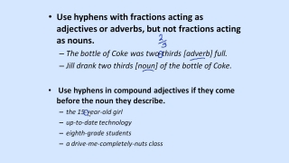 Introduction to Hyphens (Continued)