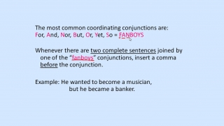 Commas in Coordinating Conjunctions