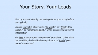 Journalism - Introductory