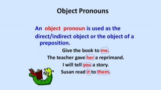 Pronouns- Personal, Subject and Object