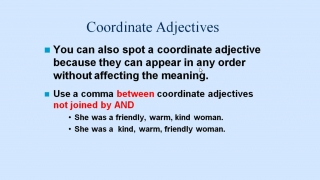 Separate Coordinate Adjectives
