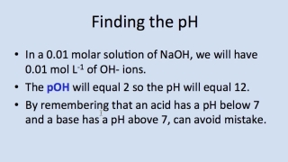 Finding the pH (Part II)