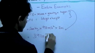 Gravitational Potential Energy Extra Examples