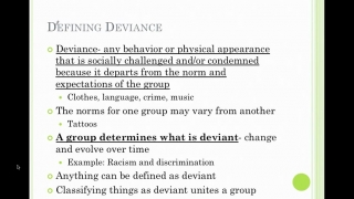 Sociology Lesson 20- Introduction to Deviance
