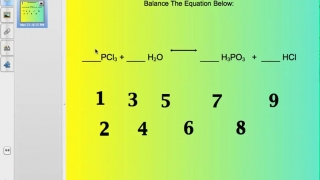 Balancing Chemical Equations (Student Example)