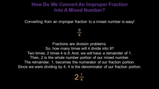 Mixed Numbers and Improper Fractions: Konst Math