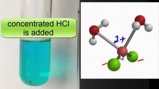 Complex Ions Reversible ligand substitution with copper chloride