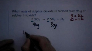 Reacting Mass Calculations Series 3 No1. (Low)