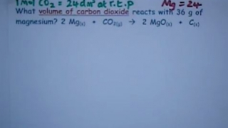 Reacting Mass: 2 Mg(s) + CO2(g) -- 2 MgO(s) + C(s)