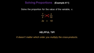 Solving Proportions