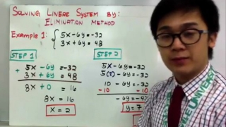 ALGEBRA- Solving Linear System by Elimination Method