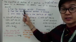 Application of Derivatives Velocity and Acceleration