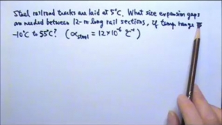 Thermal:  Linear Thermal Expansion Gap Problem