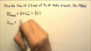 Thermal: Kinetic Theory Prob. 2 Find Root-Mean-Square Speed