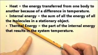 Thermal: Heat, Internal E, Thermal Energy &Mech. Equiv. of Heat