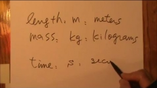 Introduction to standard units and dimensional analysis