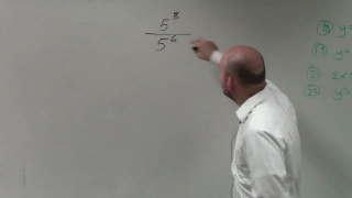 How to apply the quotient rule of exponents with numbers