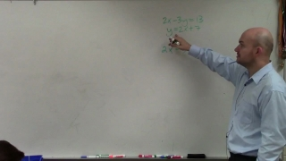 How to use the substitution method to solve the system