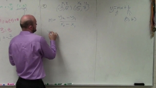 How to write the equation of a line between two points