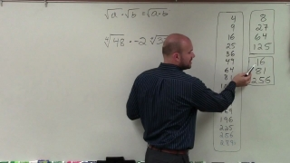 How to simplify the product of the fourth root of two numbers