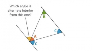180 degrees in a triangle