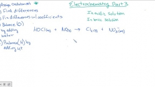 Balancing redox reactions in acidic or basic solutions
