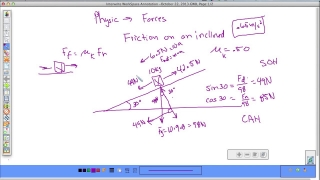 Friction on an inclined plane part 2