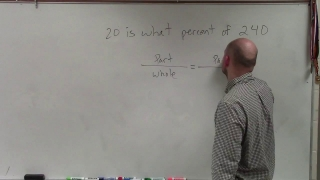 How to determine the percent between two whole numbers