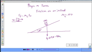 Friction on an inclined plane part 1 remix