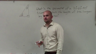 SAT PREP How to determine the perimeter of a special right triangle