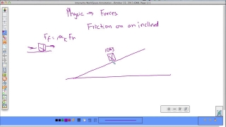 Friction on an inclined plane