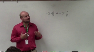 How to determine the quotient of two negative mixed numbers