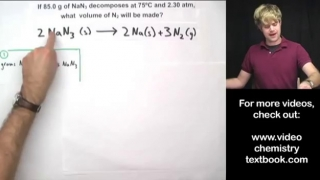 Gas Stoichiometry Equations Part 2